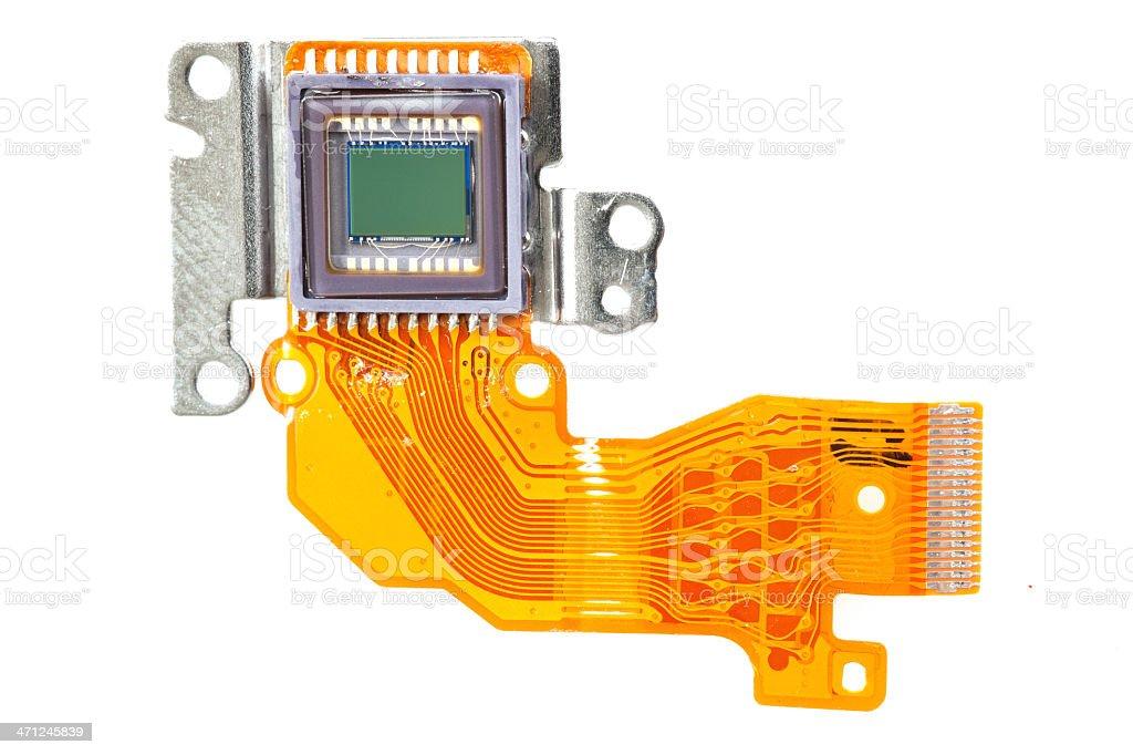 ccd Sensor of a digital camera stock photo