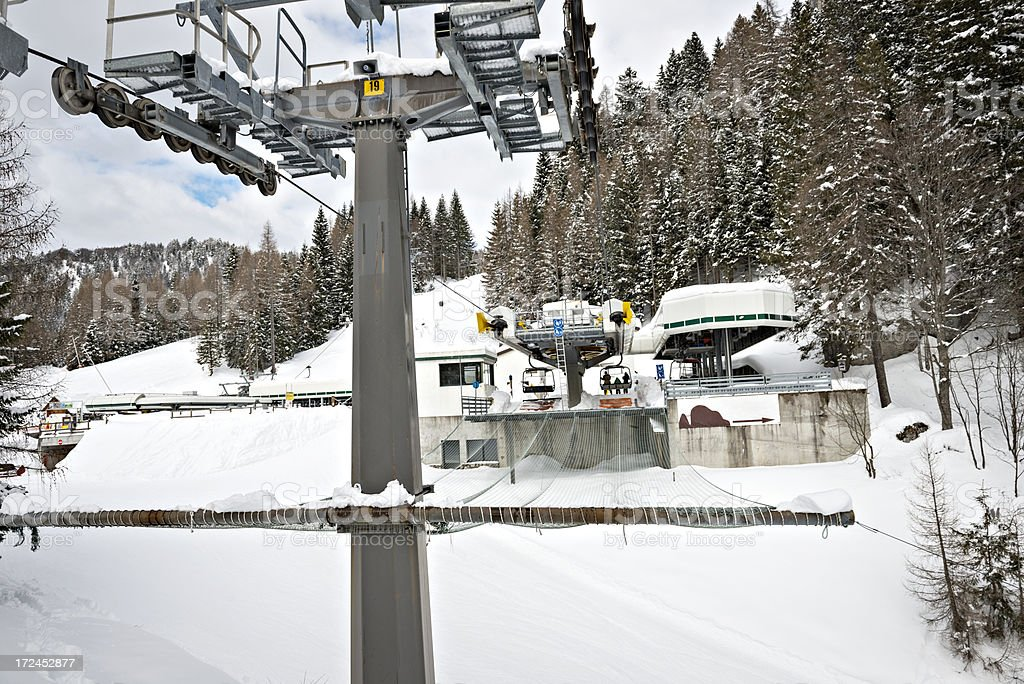 cchairlift station royalty-free stock photo