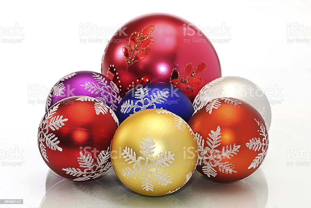 Cchristmas  decoration color ball stock photo