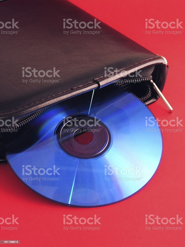 cd and case royalty-free stock photo