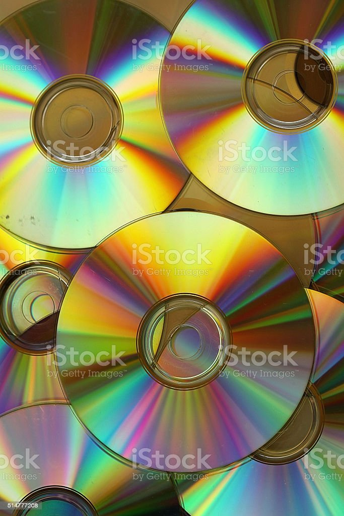 Cd and dvd stock photo