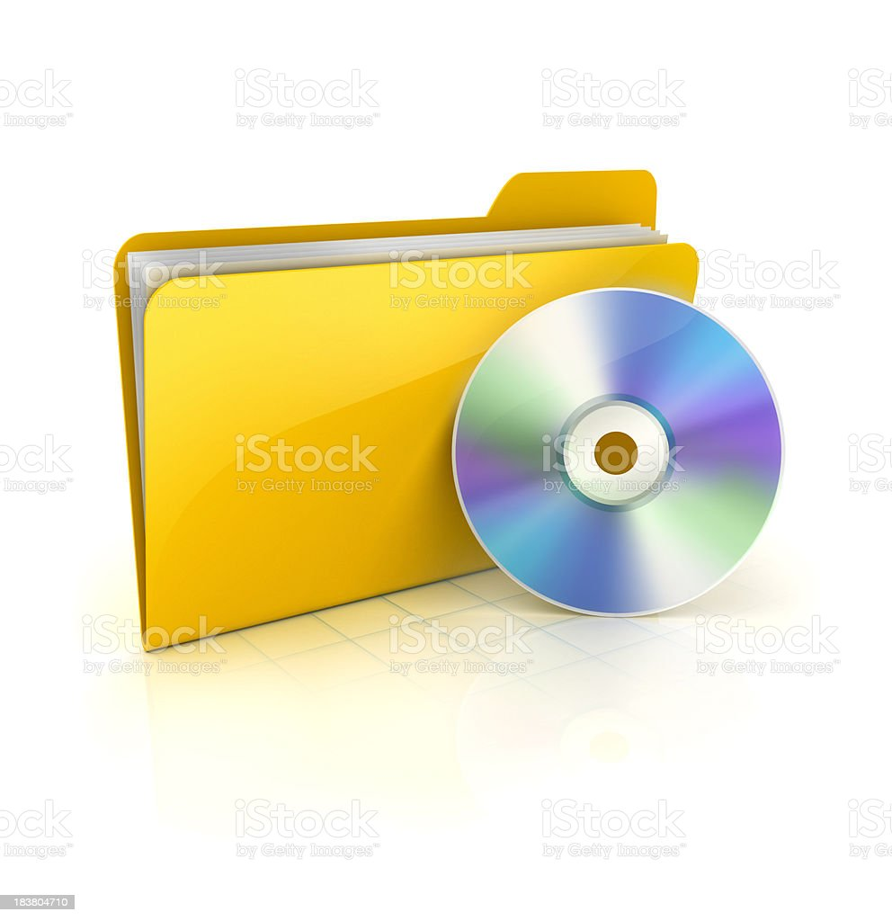 cd and folder stock photo