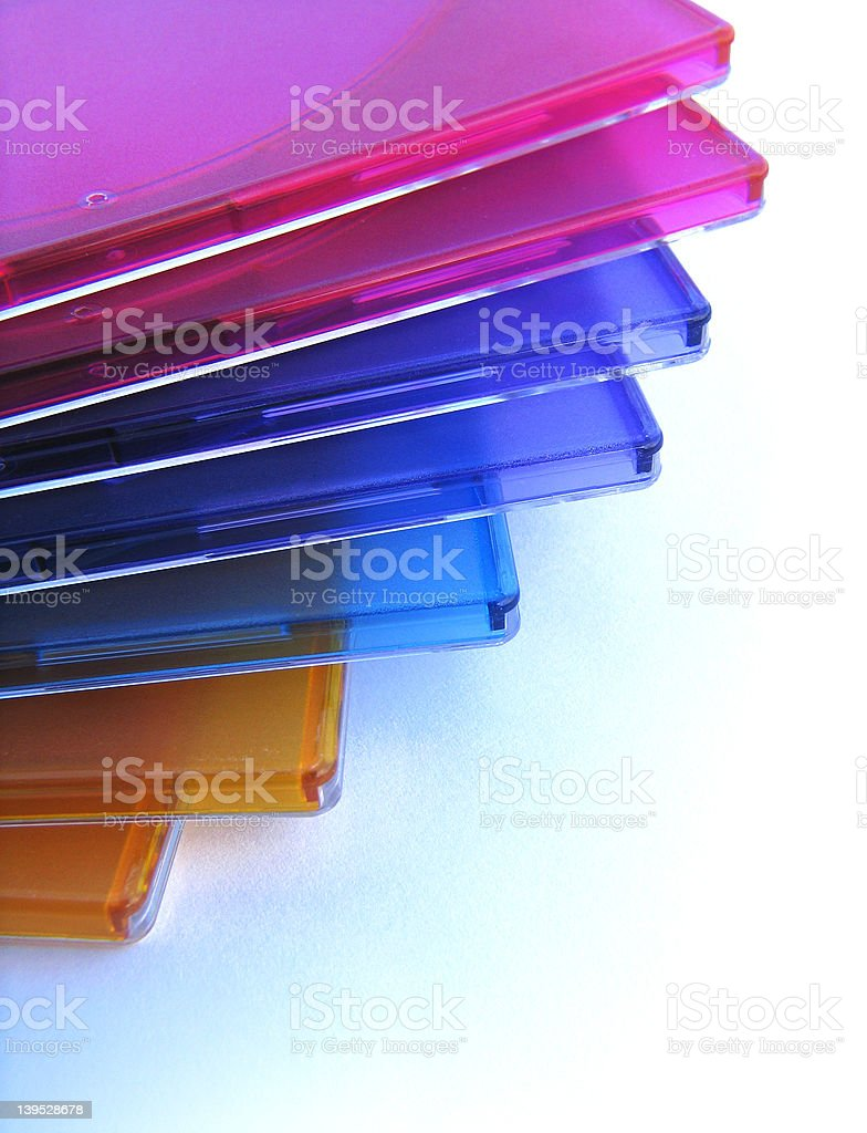 cd boxes royalty-free stock photo