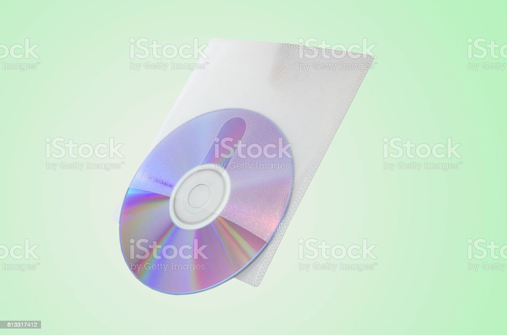 cd isolated green stock photo