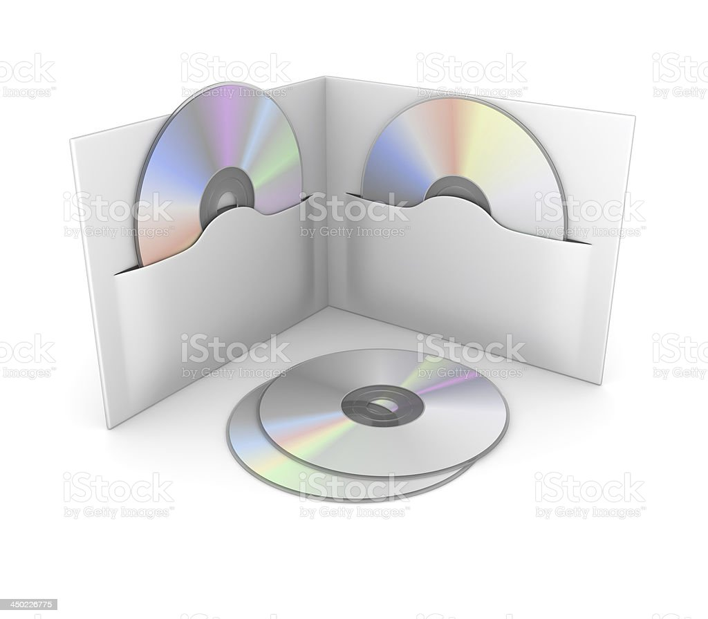 Cd or Dvd Box stock photo