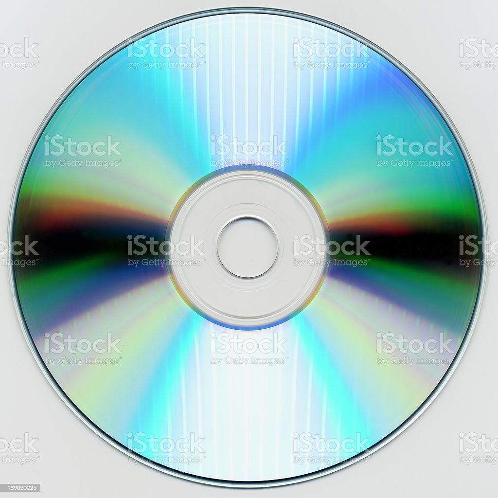 CD/DVD/Blu-Ray/HD-DVD Disc w. clipping path royalty-free stock photo