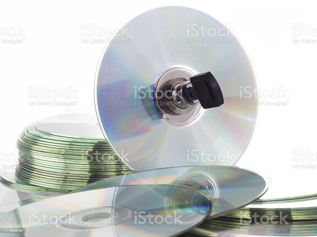 cd-locked stock photo