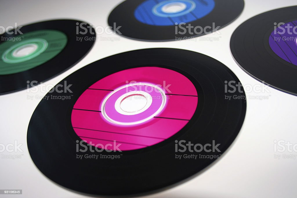 cdr with record lines like 45 PINK royalty-free stock photo