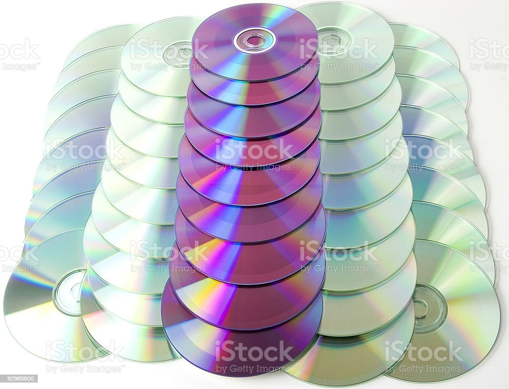 Cds and Dvds royalty-free stock photo