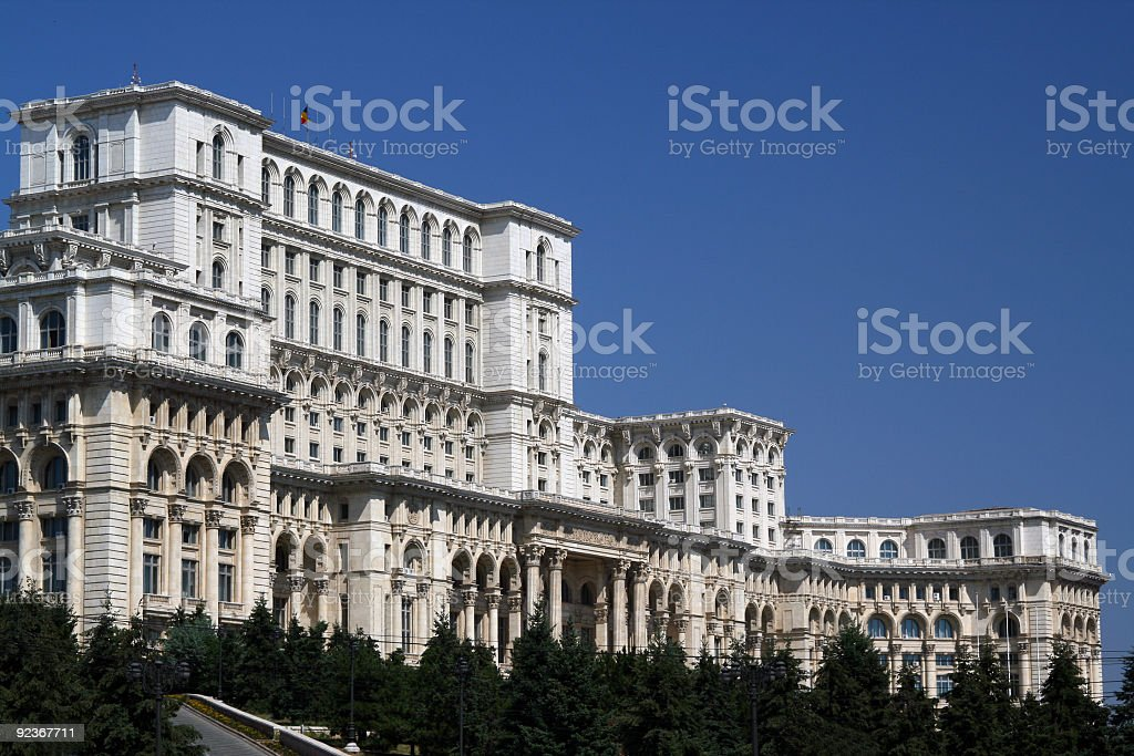 Ceausescu's Palace royalty-free stock photo