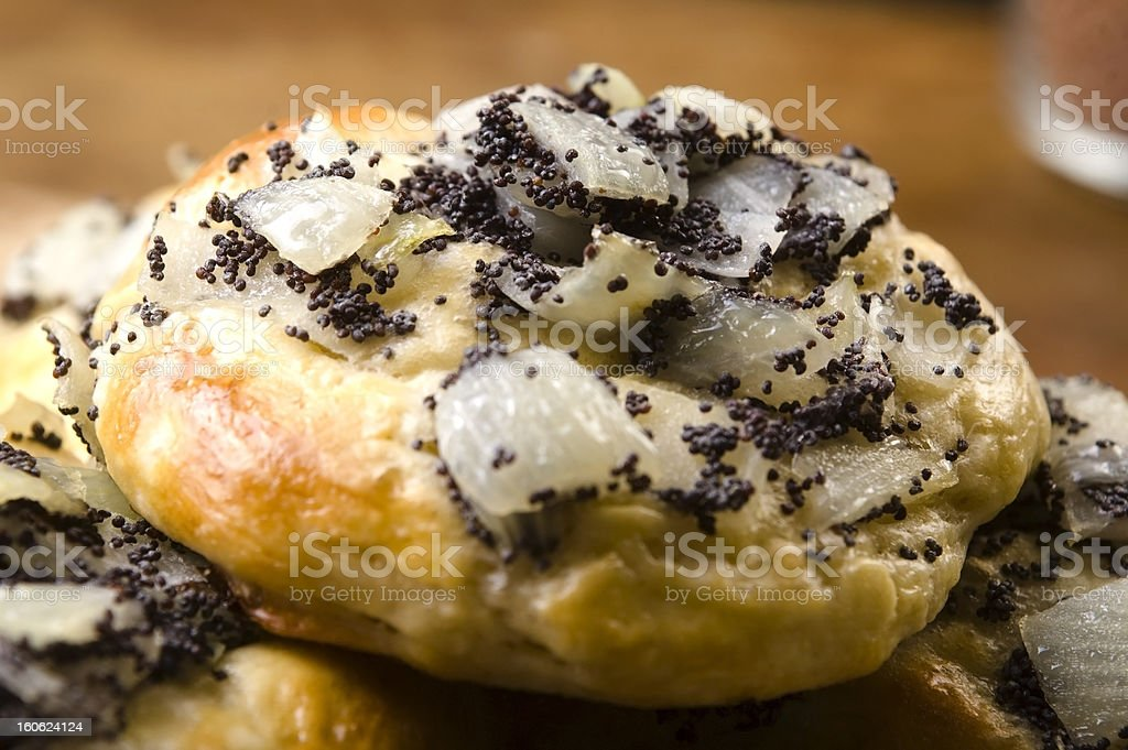 Cebularze - traditional polish cake with onion and poppy seed royalty-free stock photo