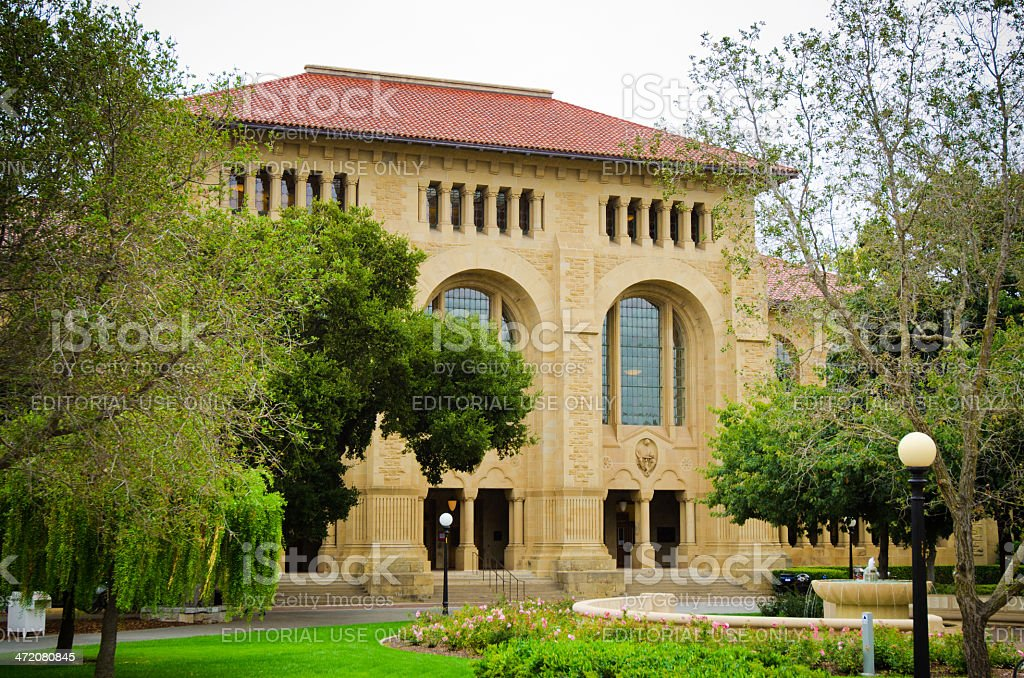 Cecil. H. Green Library on Stanford University campus stock photo