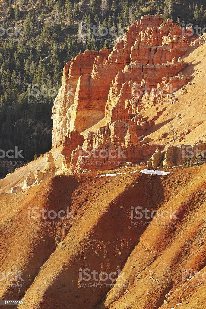 Cedar Breaks Erosion Butte Landscape stock photo