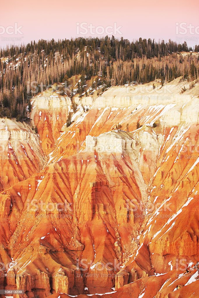 Cedar Breaks Hoodoo Sunset Landscape stock photo
