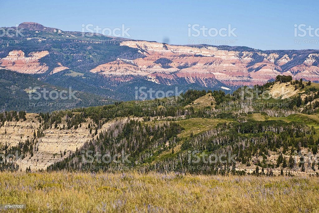 Cedar Breaks National Monument and Markagunt Plateau Utah stock photo