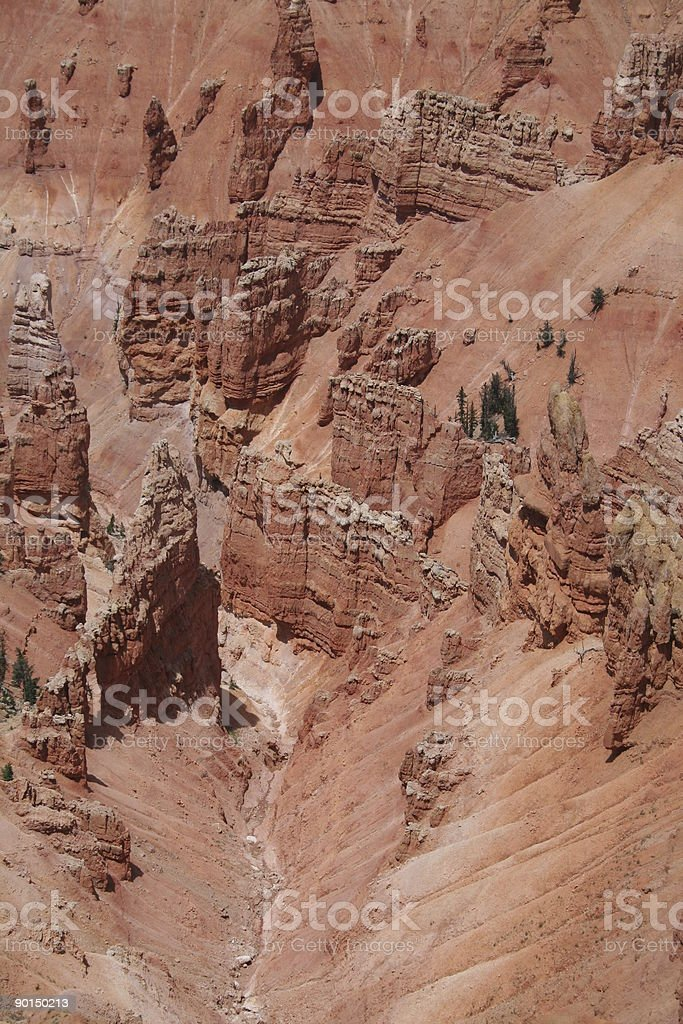 Cedar Breaks National Monument Overlook Verticle royalty-free stock photo
