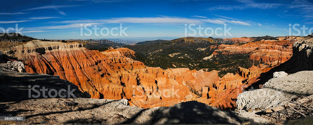 Cedar Breaks National Monument Panorama stock photo