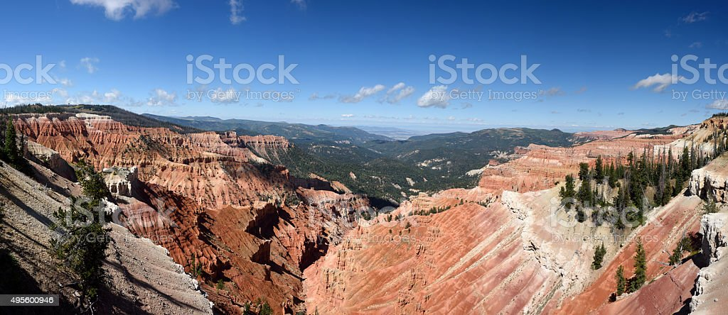 Cedar Breaks Panorama stock photo