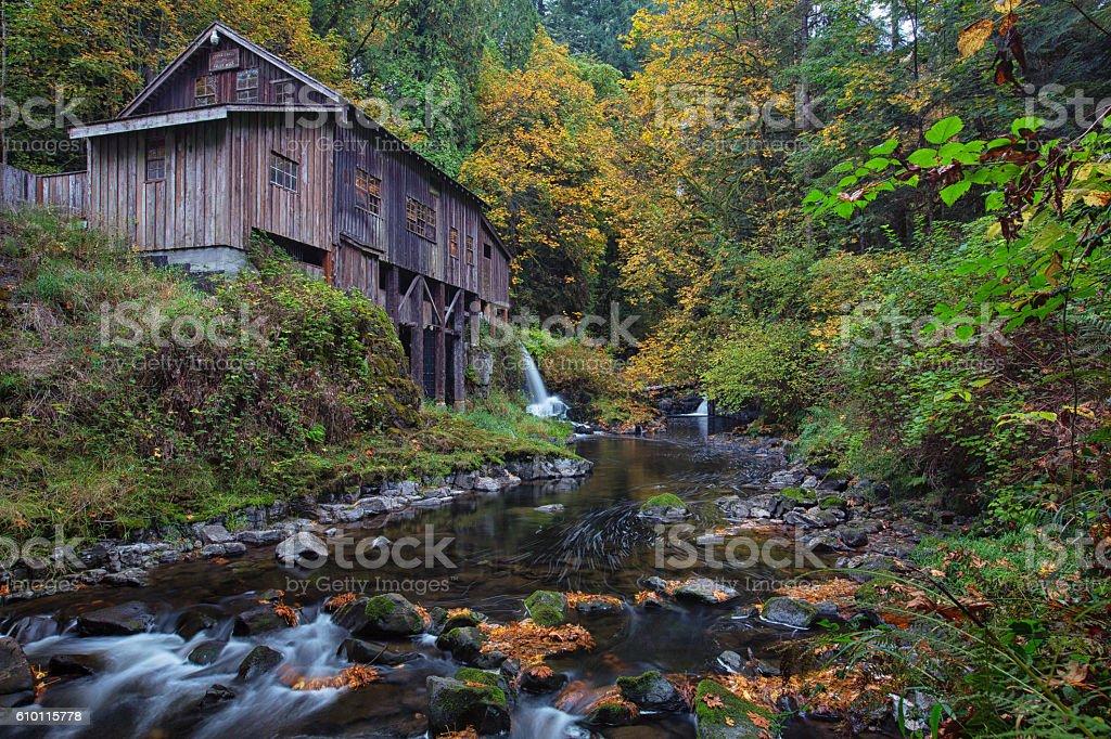 Cedar Creek Grist Mill stock photo