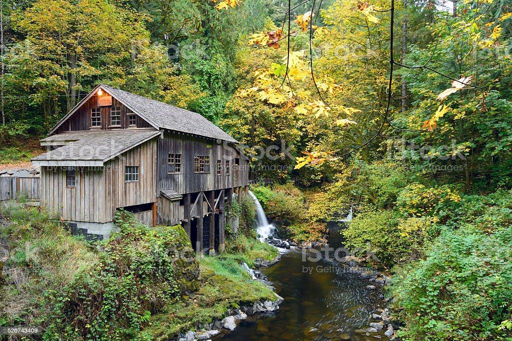 Cedar Creek Grist Mill, WA stock photo