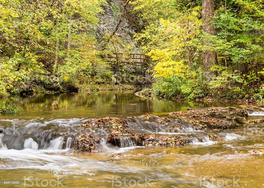 Cedar Creek, Natural Bridge, VA stock photo