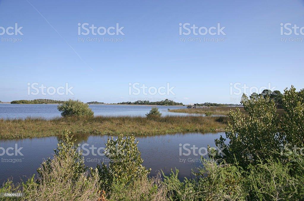 Cedar Key Florida stock photo