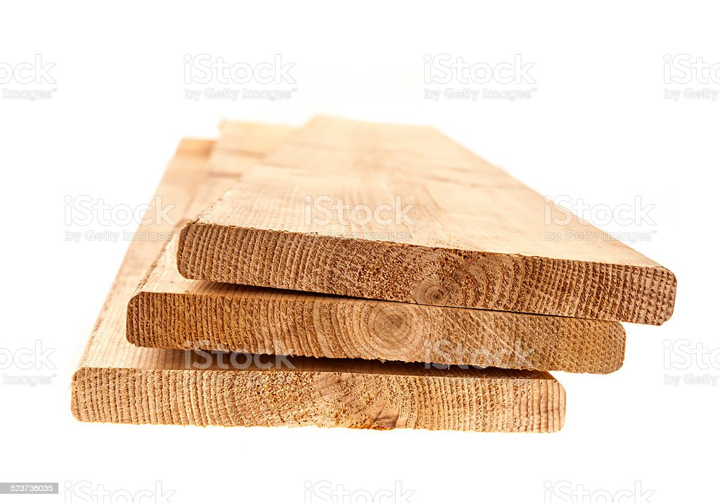 Cedar planks stock photo