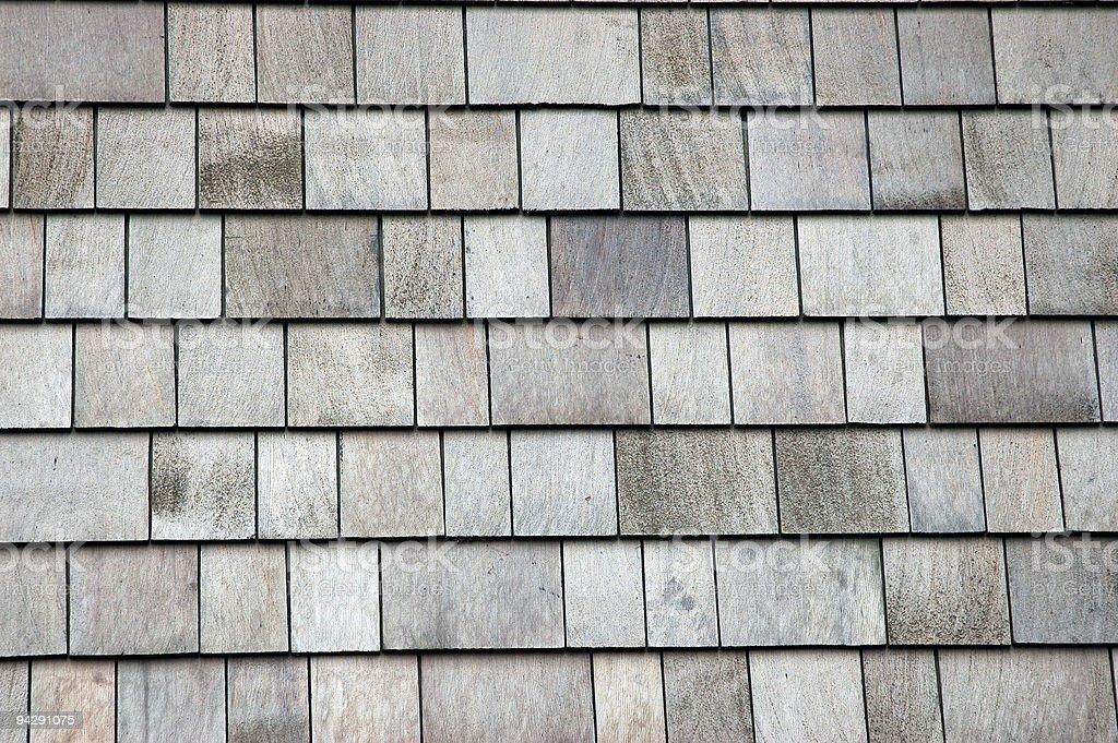 Cedar shake wall royalty-free stock photo