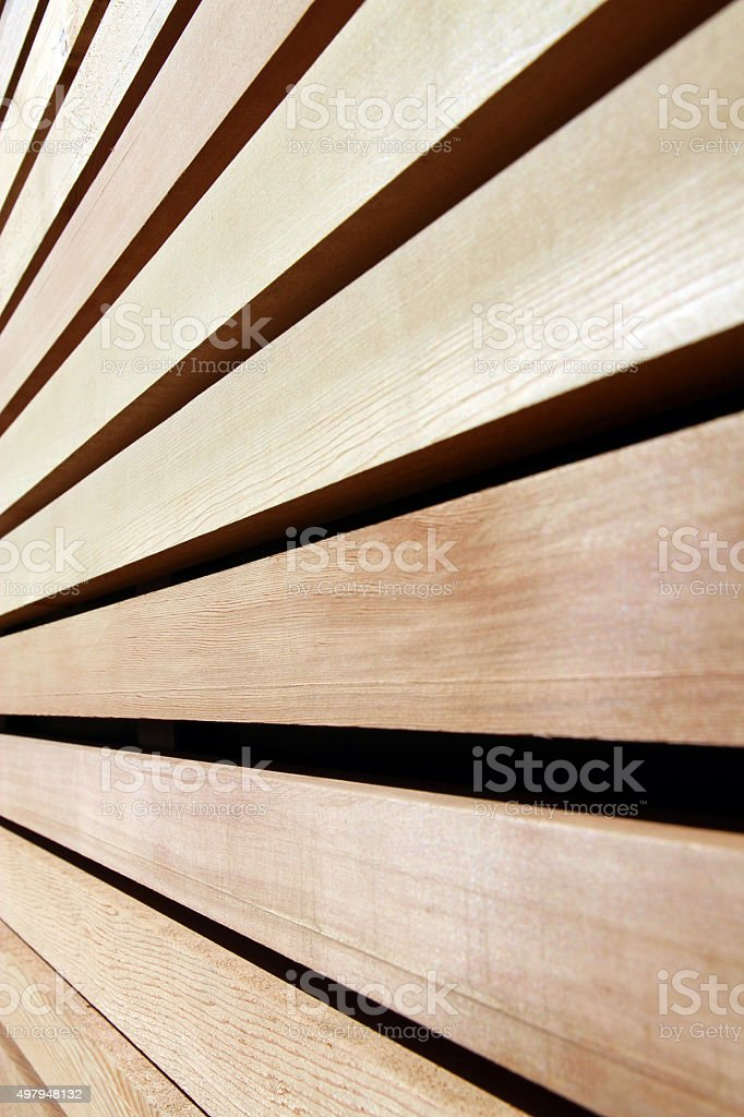 Cedar Siding stock photo