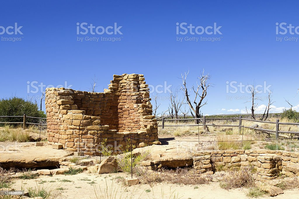 Cedar Tree Tower Ruins - Mesa Verde National Park, Colorado stock photo