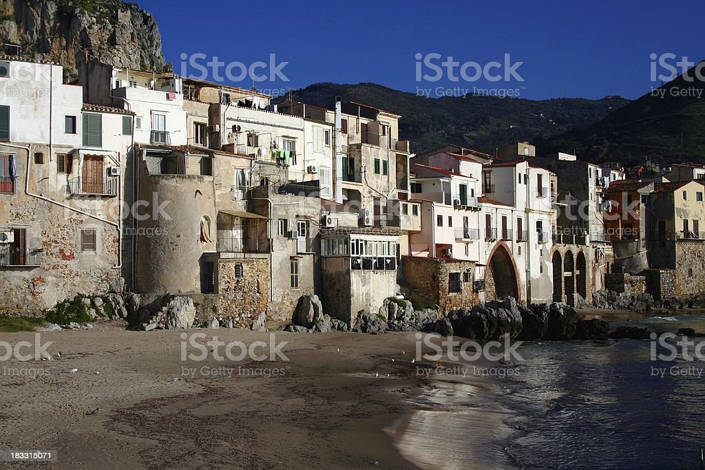 Cefalù historic village royalty-free stock photo