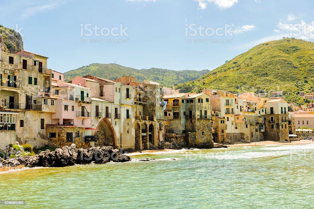Cefalu in Sicily stock photo