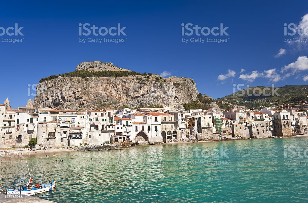 Cefalu, Sicily, Italy. stock photo