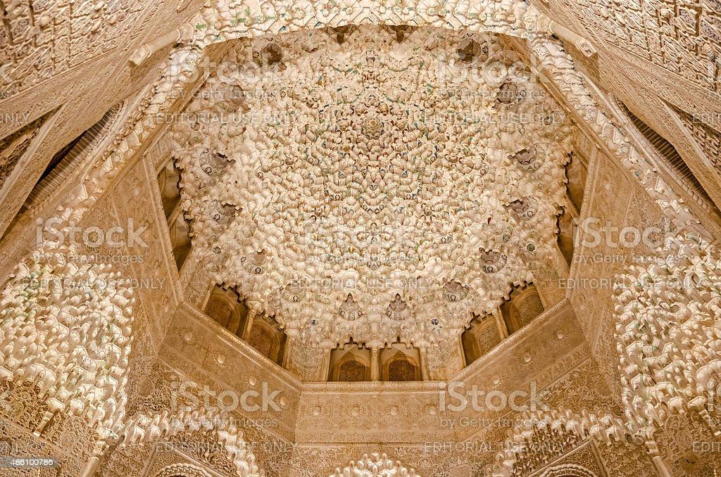 Ceiling Alhambra stock photo