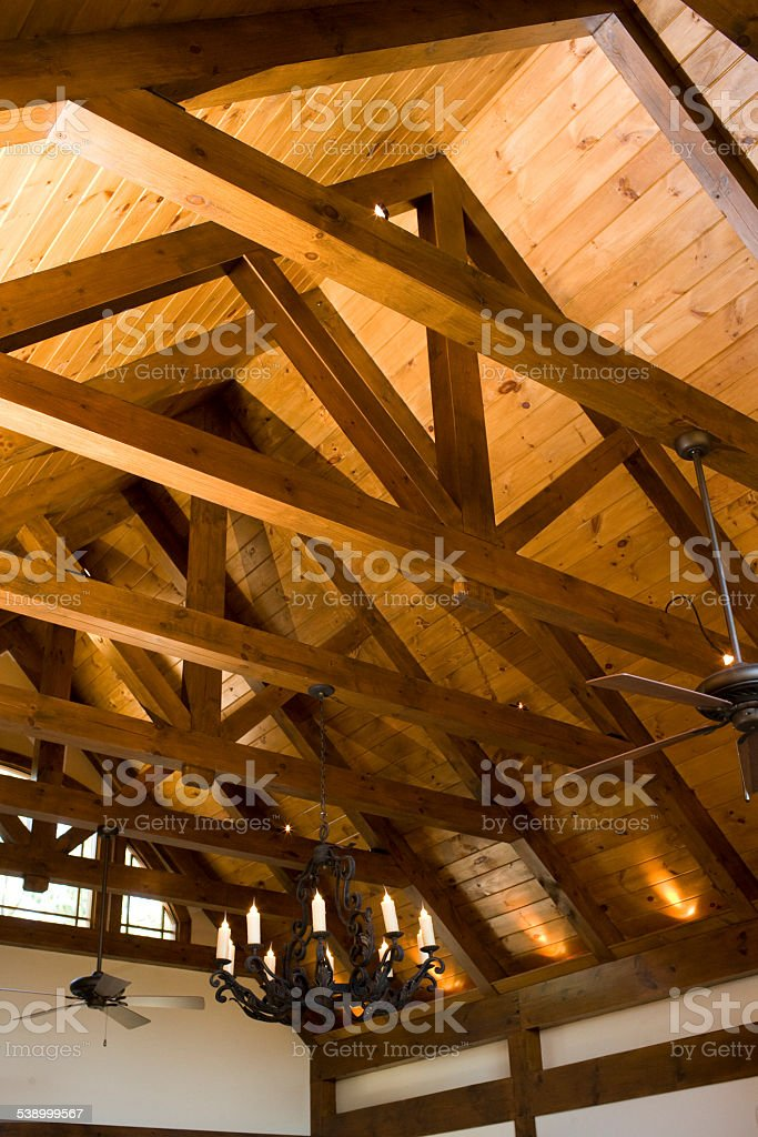 Ceiling Beams stock photo