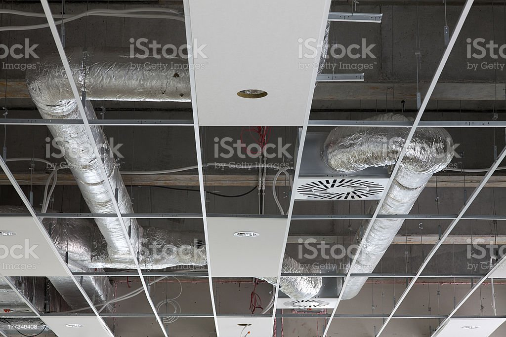 ceiling construction stock photo