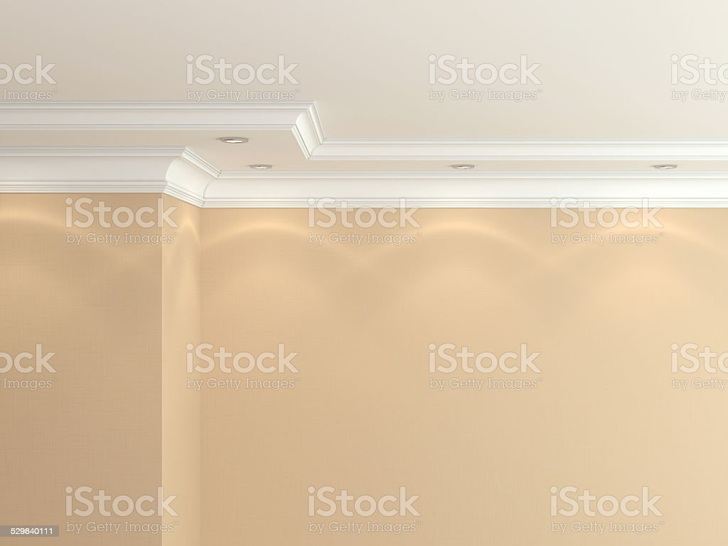 Ceiling cornice stock photo
