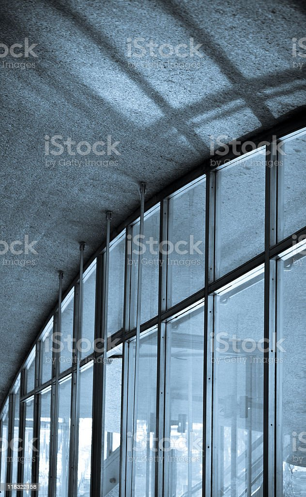 Ceiling Detail in cyanotype stock photo