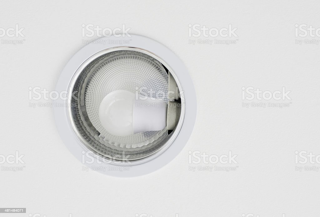 Ceiling downlight stock photo