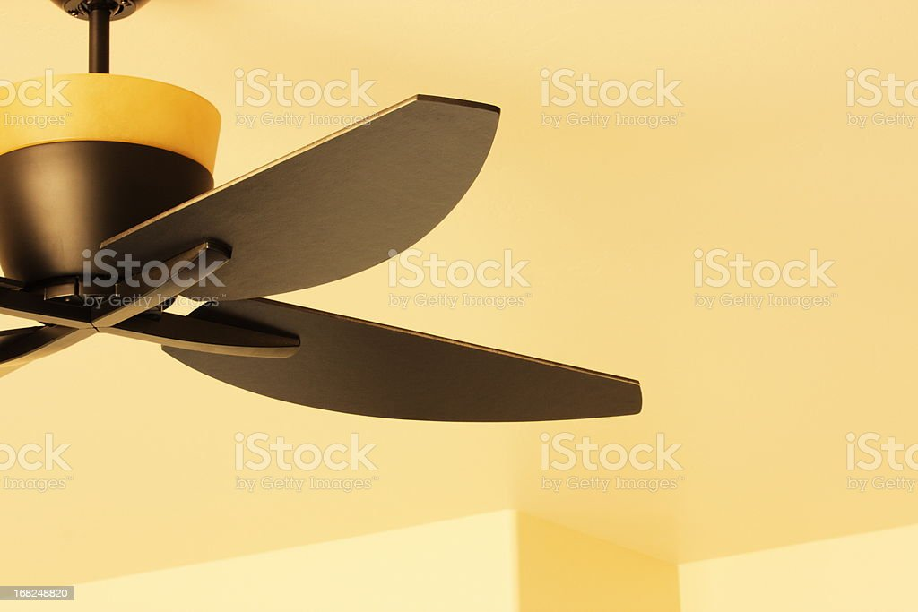 Ceiling Fan Blade Light Fixture Decor stock photo