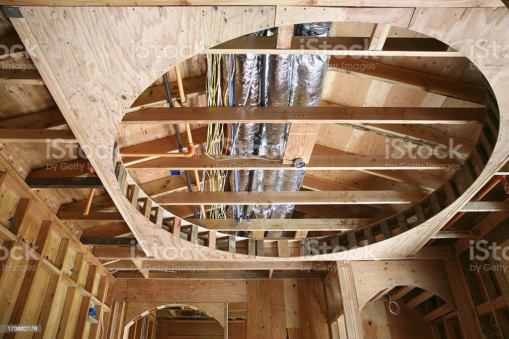 Ceiling Framing and Wiring royalty-free stock photo
