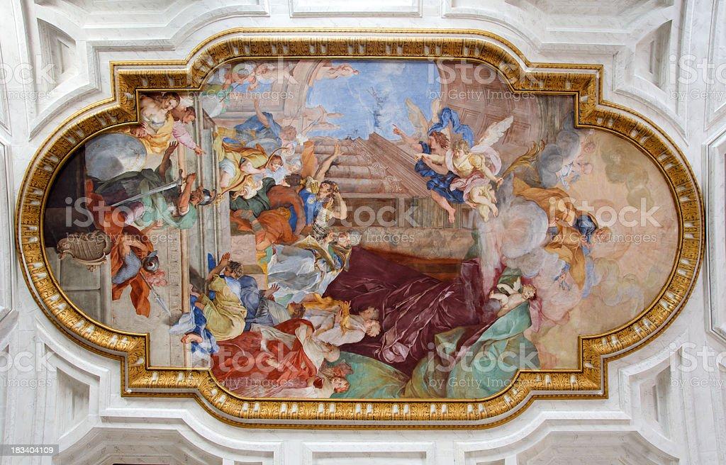 Ceiling Fresco stock photo