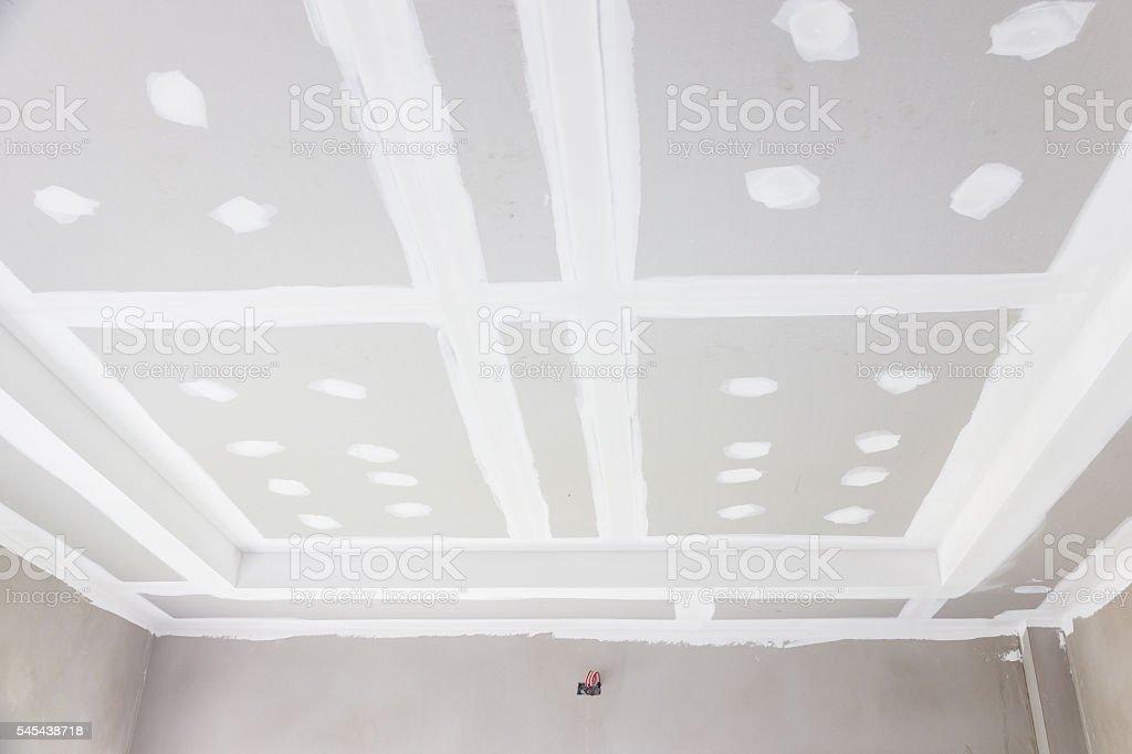 ceiling gypsum board stock photo