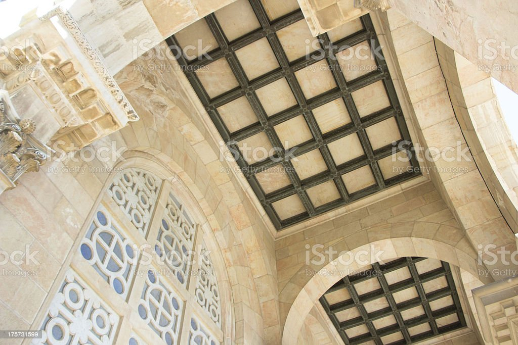 ceiling in the Church of All Nations at Gethsemane royalty-free stock photo