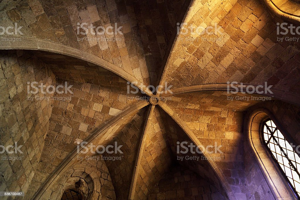 ceiling in the Church stock photo