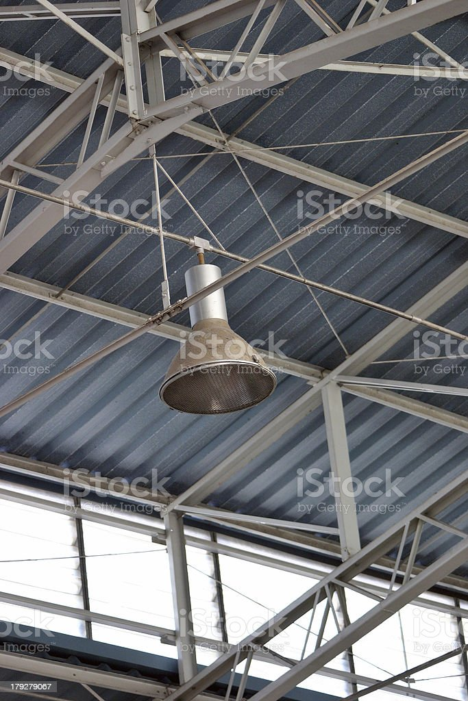 Ceiling lamp and structure royalty-free stock photo