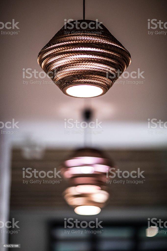 Ceiling lamp stock photo