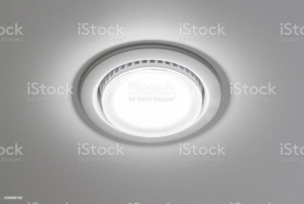 Ceiling light closeup stock photo