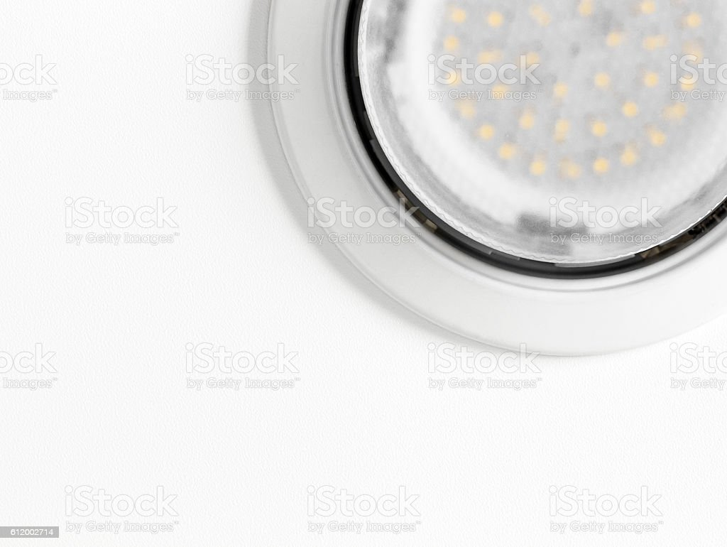 Ceiling light closeup stock photo