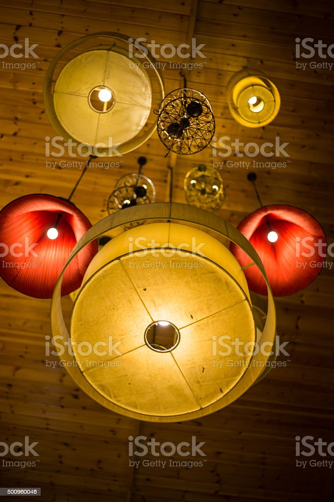 Ceiling lighting stock photo